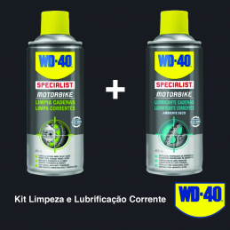 PACK WD-40 LUBRIFICANTE + LIMPA CORRENTE 400ML